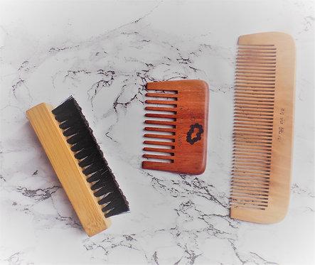 beard trio brushes