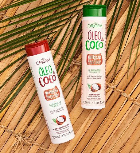 Kit Shampoo e Condicionador Origem óleo de Coco 300ml