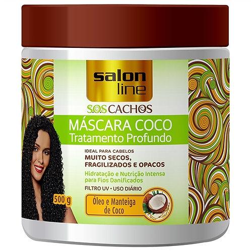 Máscara S.O.S Cachos Coco Tratamento Profundo Salon Line 500g