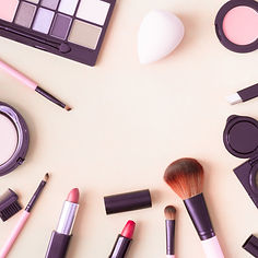 top-view-cosmetics-with-lipstick-makeup-