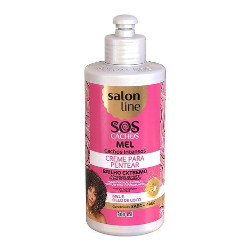 Salon Line SOS cachos mel creme para pentear cacheados crespos mel e oleo de coc