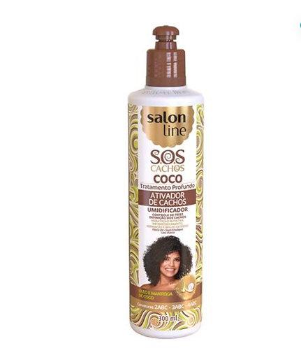 Ativador De Cachos Salon Line S.O.S Tratamento Profundo Coco 300ml