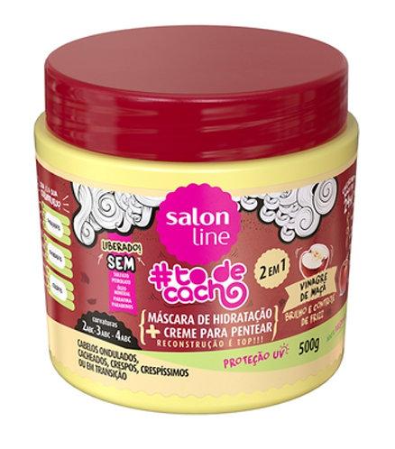 Máscara+Creme de Hidratação Salon Line #todecacho Vinagre de Maçã 500g