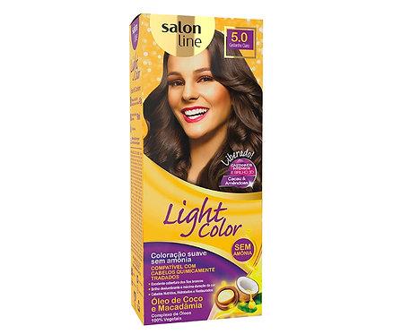 Coloração Salon Line Light Color Profissional 5.0 Castanho Claro45g