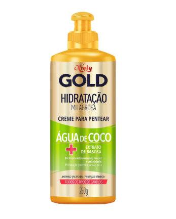 Creme Pentear Niely Gold 250G Hidratação Agua de Coco