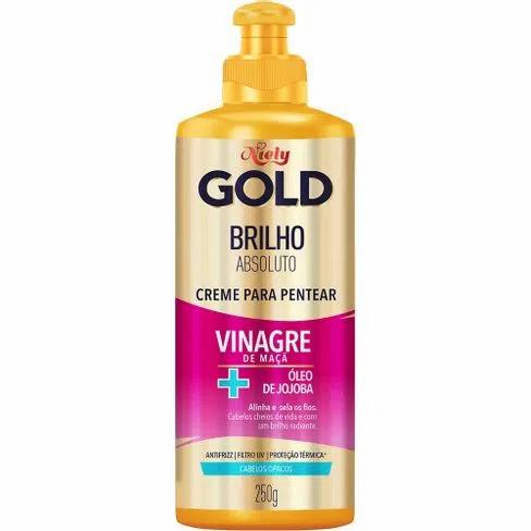 Creme Para Pentear Niely Gold Brilho Absoluto Vinagre de Maçã + Óleo de Jojoba