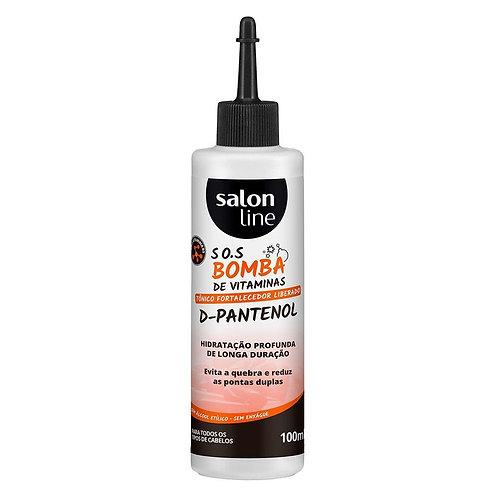 Tônico fortalecedor salon line - s.o.s bomba d-pantenol - 100ml