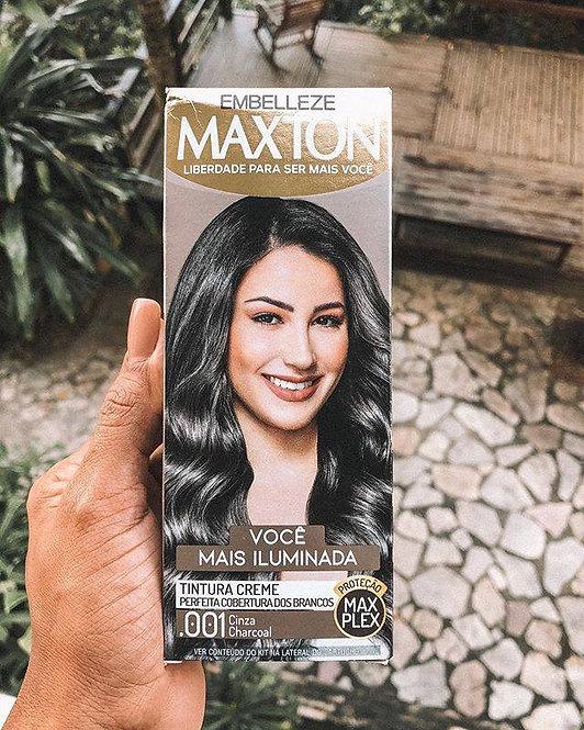 Tinta de Cabelo Maxton Você Mais Iluminada Cinza Charcoal .001 Kit