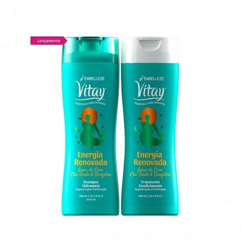 Shampoo e Condicionador Vitay Energia Renovada Embelleze
