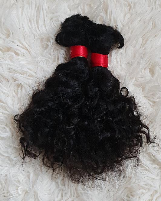 Cachos naturais 35cm 200g cabelo solto