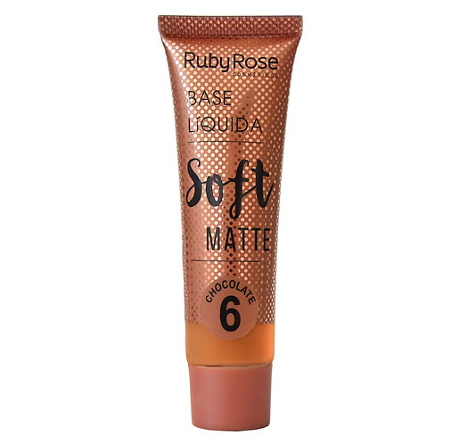 Base Líquida Soft Matte Chocolate 6 - Ruby Rose