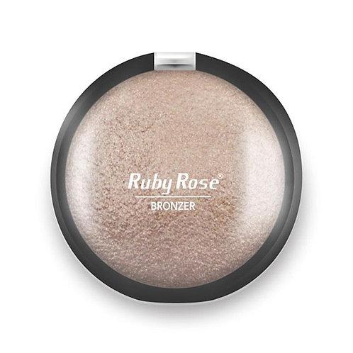Pó Bronzer e Iluminador Ruby Rose - Cor 1 - Champagne