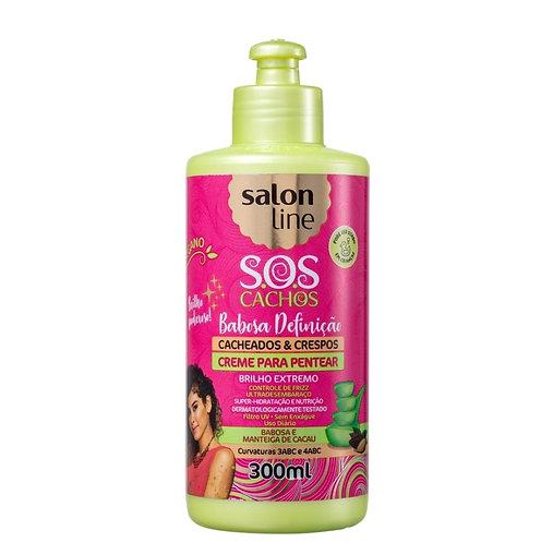 Salon Line S.O.S Cachos Babosa Cacheados & Crespos - Creme de Pentear 300ml