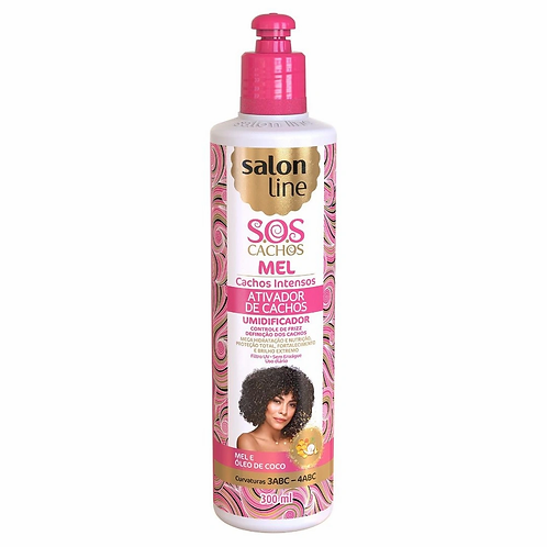Ativador de Cachos Salon Line S.o.s Cachos Mel e óleo de Coco 300ml