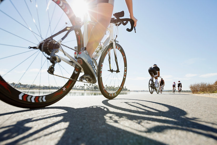 ロードバイクのクローズアップ