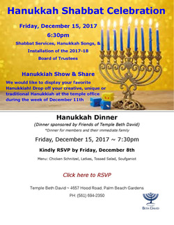 Hanukkah celebration shabbat flyer -  11.16.2017 website final