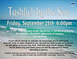 Tashlich by the Sea 2020 flyer for HHD G