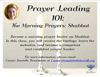 Prayer Leading 101 - option 1      09.30