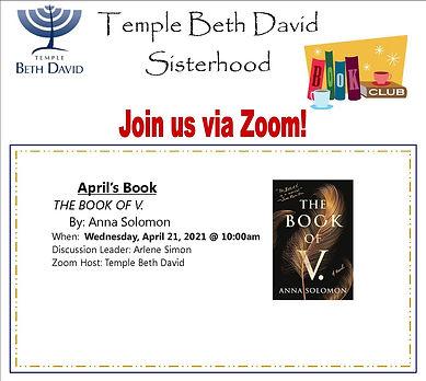 Bookclub Flyer for Eblast -  April 2021