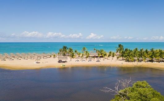 Vista Aérea Praia Pratagy Beach Resort