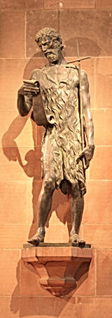 16 Statue of John the Baptist, by finand