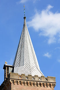 030 St. John's steeple from the west, sh