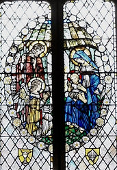 30 Detail from the  West window featurin