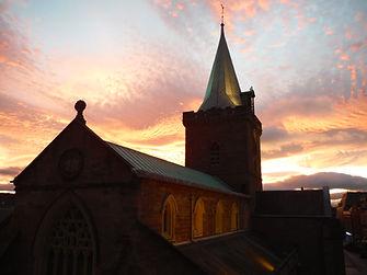 St John's Kirk - red sunset - 24 Oct 201