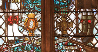 12 Detail from the Black Watch window. R