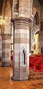 14 Niche in a pillar on the north aisle.