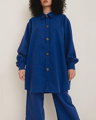Camisa Oversize Azul Bic