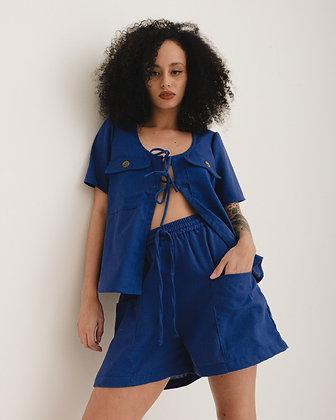 Short Bolso Azul Bic