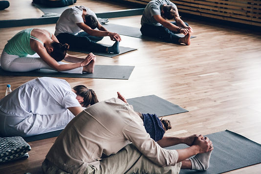 Diversity People Exercise Class Relax Co