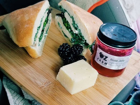Road Trip Recipes: Rose Tofu Sandwich
