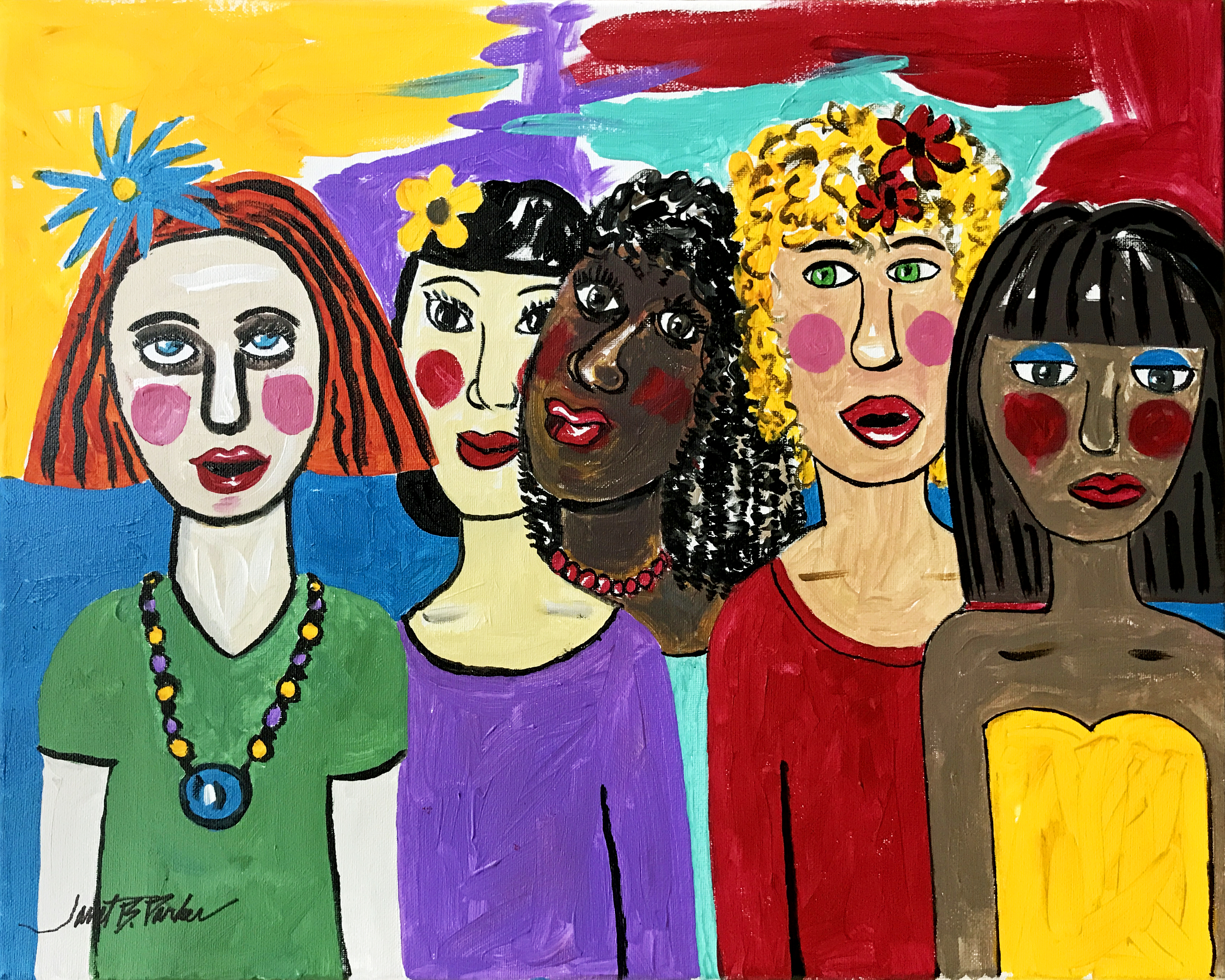 Multi Colored Ladies