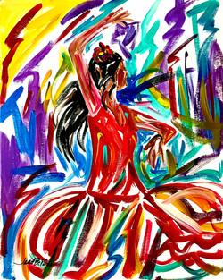bailando en la noche