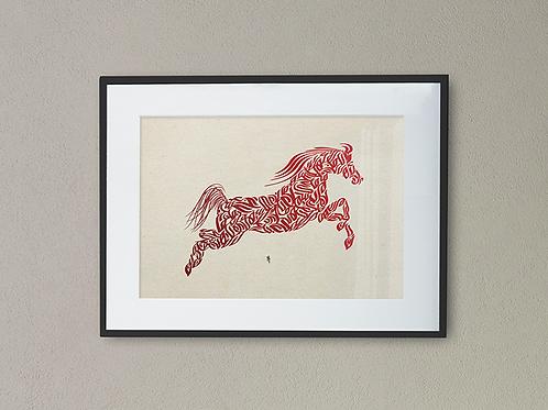Calligraphy Horse