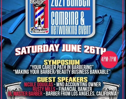 2021 BARBER COMBINE & NETWORKING EVENT-Sat. June 26th 4pm-7pm