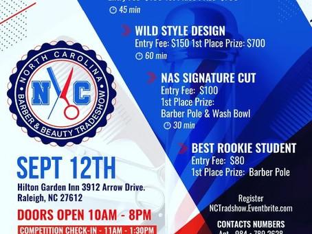 North Carolina Barber & Beauty Tradeshow-SEPT. 12TH