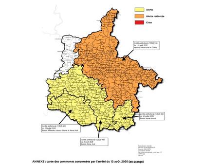 Arrêté sécheresse: La ville de Vivier-Au-Court est concernée