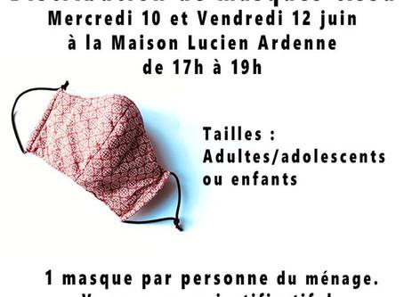 Distribution de masque espace social & culturel Victor Hugo