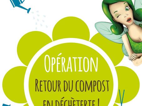 Opération : retour du compost en déchèterie