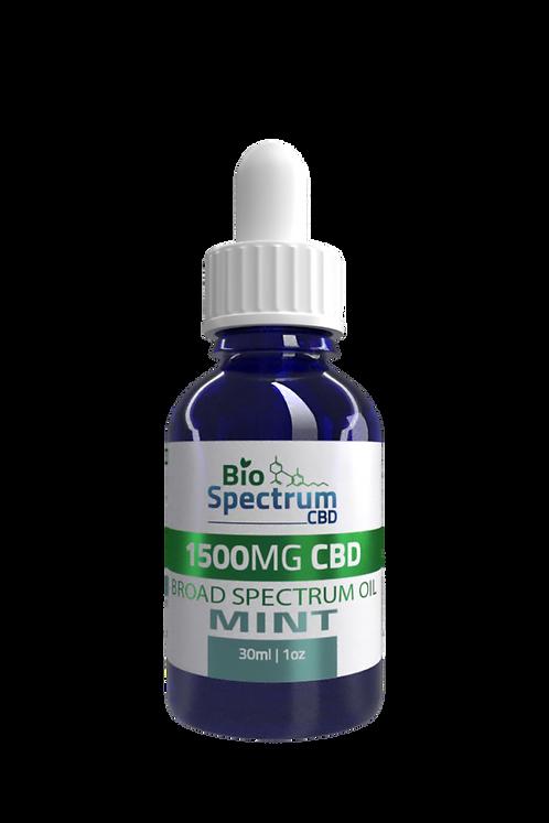 1,500mg Broad Spectrum CBD Oil Mint - Wholesale