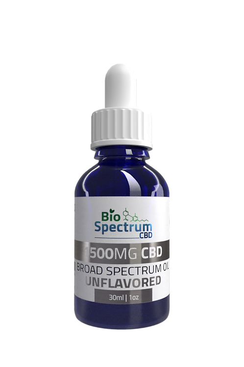1,500mg Broad Spectrum Oil - Unflavored Wholesale
