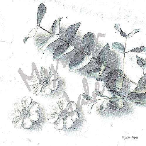 Tre blommor