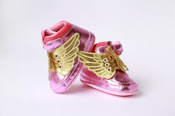 pink wings baby shoes