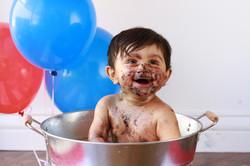 After Cake Smash Bubble Bath