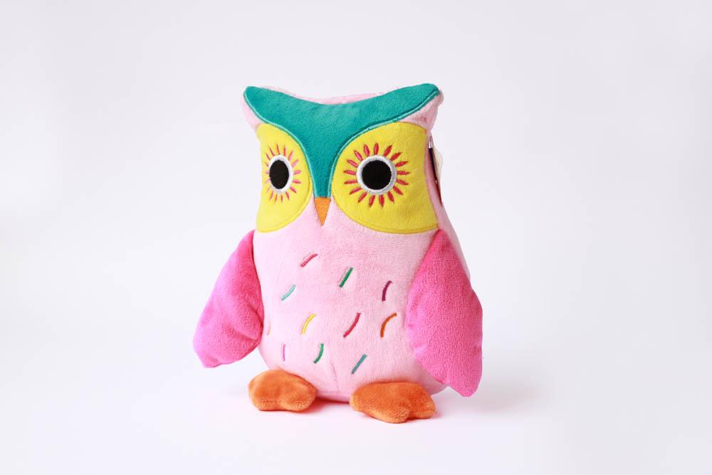 owl pink plush toy