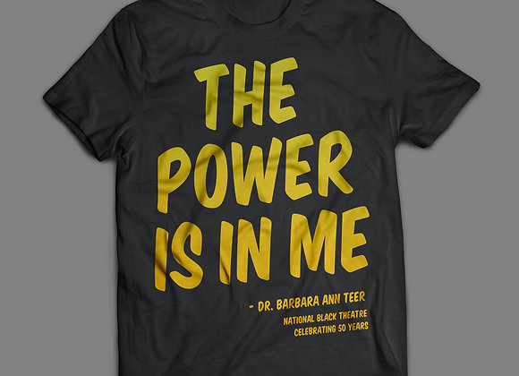 The Power Is In Me (Metallic Gold Lettering)