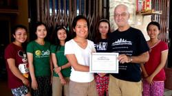 Certificate presentation Jamie